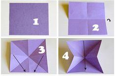 Gấp hình con bướm bằng giấy_bước 1