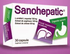 Imaginea cutiei SanoHepatic - click pentru cumparare