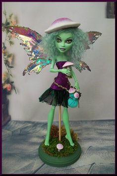 Tula A Monster High OOAK Fairy Repaint Sculpt by John | eBay