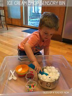 Ice Cream Shop Sensory Bin - Tales of a Teacher Mom