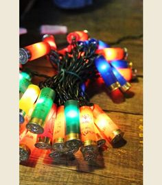 MULTI COLOR SHOTGUn SHELL LIGHTs - Junk GYpSy co #shotgunshelllights #christmaslights