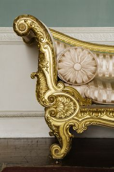 Gilded couch supplied for the Drawing Room at Castle Coole in about 1816