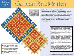 Medieval Arts & Crafts: Brick stitch pattern #7. [Kathy Stormberg's blog]