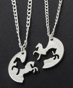 BFF Horse Necklace Set