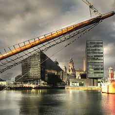 The Liver Building from Canning Dock