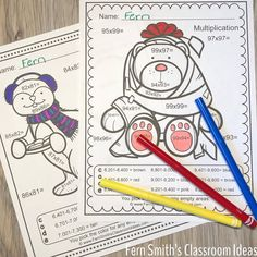 Need Some Seasonal Fun for Two-Digit By Two-Digit Multiplication? Christmas Color By Number, Christmas Colors, Christmas Ideas, 5th Grade Teachers, Elementary Teacher, Elementary Schools, Two Digit Multiplication, Multiplication Activities, Student Jokes
