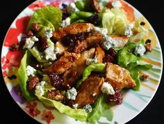 Man-Pleaser Salad // BBQ Chicken, Blue Cheese & more