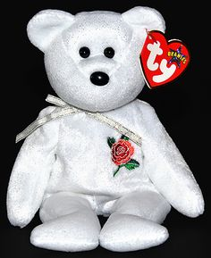 Ty Beanie Baby Rose the Bear Beanie Babies Value, Rare Beanie Babies, Beanie Baby Bears, Ty Beanie Boos, Ty Babies, Little Babies, Baby Toys, Kids Toys, Ty Bears