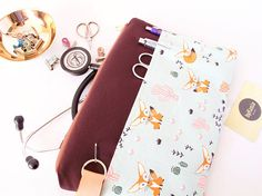 Stethoscope Pouch. FOX CACTUS Bag.Nurse Gift.Medical