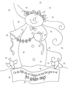 Free Dearie Dolls Digi Stamps: The Fifth Day of Christmas