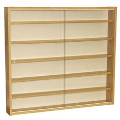Small wall display cabinets with glass doors http buy 6 shelf glass wall display cabinet oak from our shelving storage units range at tesco direct planetlyrics Gallery