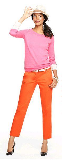 J.Crew - pink & orange