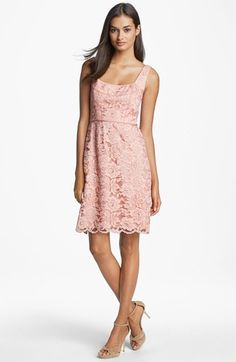 Jill Stuart Sleeveless Lace Dress available at #Nordstrom (248) #pinklacedress