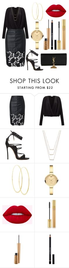 """""""Untitled #76"""" by itsmexo ❤ liked on Polyvore featuring Samsøe & Samsøe, Dsquared2, ERTH, Lana, Movado, Yves Saint Laurent and Givenchy"""