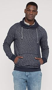 Sweatshirt in blue melange