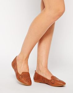 Image 1 of ASOS LARK Laser Cut Slipper Ballets