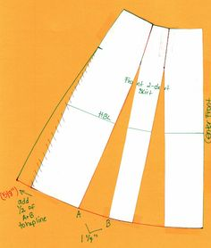 Glamour Glory: How to turn a Straight Skirt into a Flared Skirt #sewing #patternmaking #diy