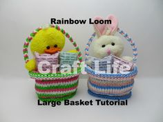 Craft Life Large Rainbow Loom Basket ~ Easter Basket