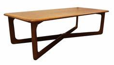 Mid-Century Danish Modern Walnut X-Base Coffee Table by Lane  #MidCenturyModern #LaneFurniture