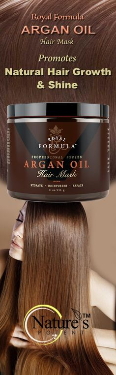 Royal Formula Argan Oil Hair Mask, Hydrates, Moisturizes & Repairs, Restores and Strengthens Weak, Damaged, and Over Processed Hair From Heat & Styling Damage. Improves Manageability, Promotes Natural Hair Growth & Shine. Works For All Hair Types – Makes Hair Smell Amazing.