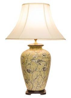 Chinese Table Lamp Pair Lamps Ceramic