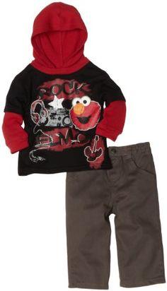 Sesame Street Rock Elmo Hooded Top and Pants www.YankeeToyBox.com #yankeetoybox #ytb #elmo #sesamestreet #rockelmo