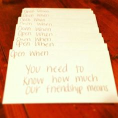 Image result for open when letters for best friends