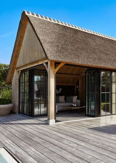 Pool house in Belgium ~ typical Belgian home extensions Outside Living, Outdoor Living, Pavillion, Outdoor Pavilion, Belgian Style, Garden Buildings, Interior Exterior, Pool Houses, Cabana