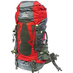 Senterlan Capacity Back Pack Red 70 L -- More info could be found at the image url.(This is an Amazon affiliate link and I receive a commission for the sales)