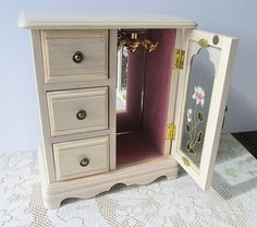 Wood Armoire Jewelry Box by Mele Blonde Dresser by Collectique, $25.00