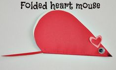 Valentine craft – Paper creatures | Kids Play Box Folded Heart Mouse