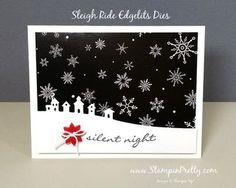 Simple Saturday Silent Night Holiday Card | Mary Fish, Stampin' Pretty The Art of Simple & Pretty Cards | Bloglovin