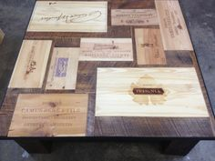wine crate coffee table - Google Search