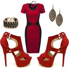 Painting the Town Red by veronacoupon on Polyvore featuring polyvore fashion style Doublju GUESS Free Press