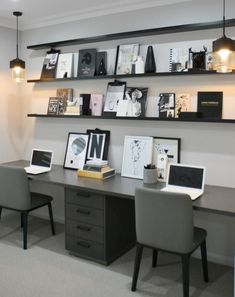 48 Wonderful Small Office Design Ideas – Modern Home Office Design Small Office Design, Corporate Office Design, Office Interior Design, Office Interiors, Office Designs, Guest Room Office, Home Office Space, Home Office Decor, Home Decor