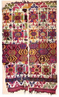 Anatolia Kilim, possibly century it may be Konya or Aydin. SIZE: 127 x 74 in.) New England Rug Society Art Chinois, Homemade Home Decor, Turkish Design, Art Japonais, Rustic Rugs, Modern Rugs, Tribal Rug, Kilim Rugs, Rugs On Carpet