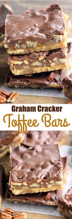 Graham Cracker Toffee Bars - only 5 ingredients to make the tastiest, easiest toffee bars! Perfect for an easy holiday treat.   on myrecipemagic.com