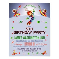 390 5th birthday party invitations