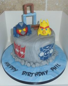 transformers angry birds cake