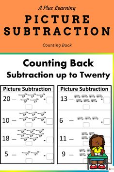 This counting back strategy for subtraction is a great way for your students to practice and solve subtraction problems.This resource include 12 subtraction worksheets. They are in black and white. School Resources, Classroom Resources, Math Resources, Math Activities, Classroom Organization, Classroom Management, Counting To 120, Math Made Easy, Teaching Posts