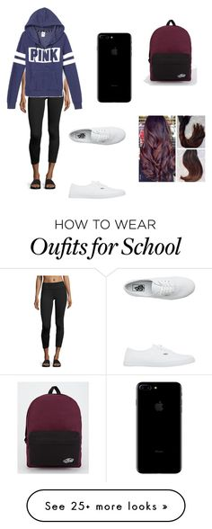 """Testing at School"" by dancer0202 on Polyvore featuring Vimmia, Victoria's Secret and Vans"