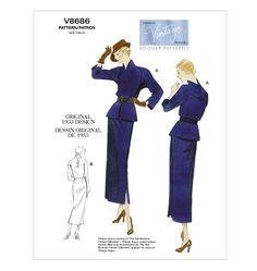 V8686, Misses' Dress