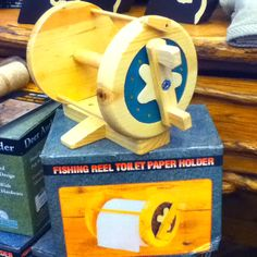 Fishing reel toilet paper holder!!