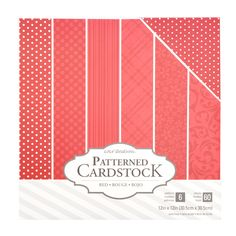 """Core'dinations 12"""" x 12"""" Patterned Cardstock 60 Pack - Red"""