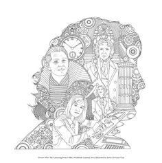 Since the BBC's Doctor Who relaunched in fans new and old have embraced our favourite time lord into our lives, complete with his. Online Coloring Pages, Coloring Pages To Print, Adult Coloring Pages, Coloring Books, Kids Coloring, Colouring, Mandala Art Therapy, Football Coloring Pages, Batman Cartoon
