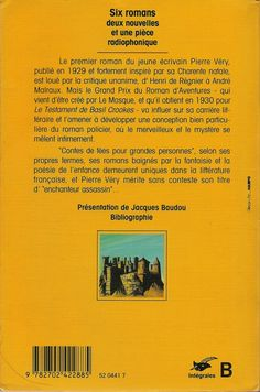 Les Intégrales du Masque - Pierre Véry - Volume 1 - Verso - Mai 1992