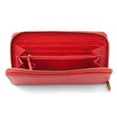 Leather Wallet Red