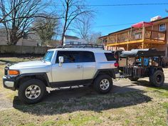 Nice DIY utility trailer tent top camping setup! Trailer/photo by Keith Torbett