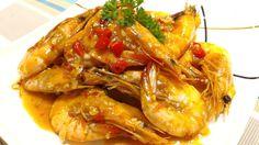 Sweet chili and garlic shrimp