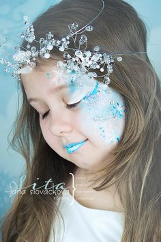 face painting snowy ice queen fairy